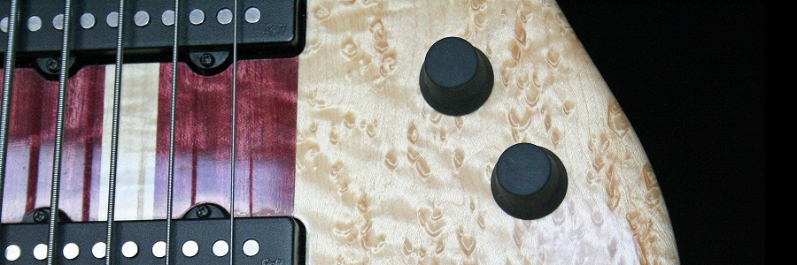 Thermoplastic rubber knobs for guitars and basses. Knobeez.
