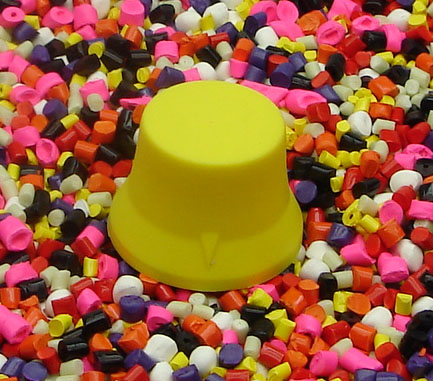 Yellow Standard Guitar Knobs